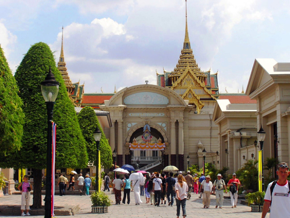 Pimanchaisri door gate within Grand Palace Bangkok Thailand - by ScorpianPK